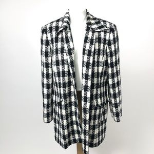 Worthington Tweed checker Plus size peacoat jacket